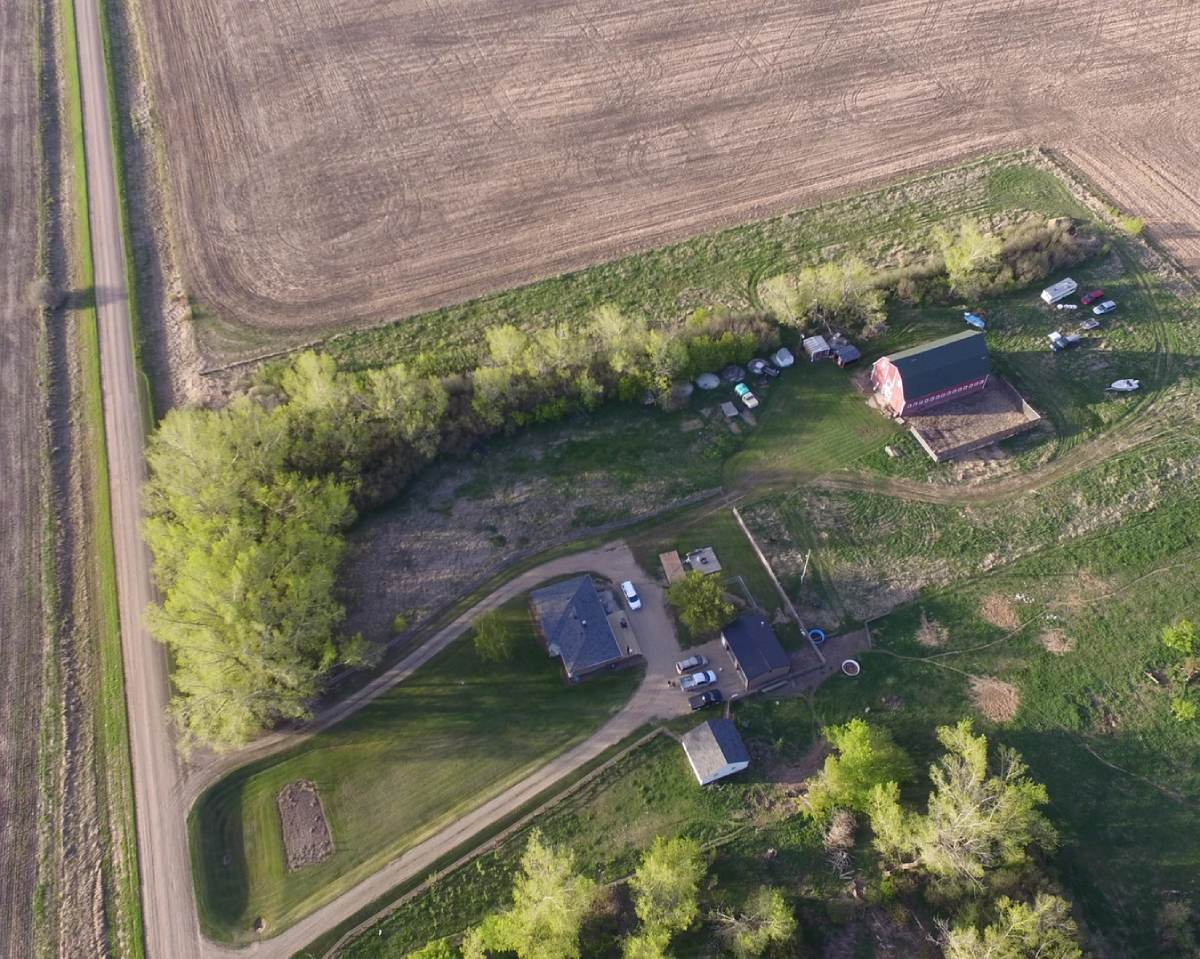 aerial view of a property